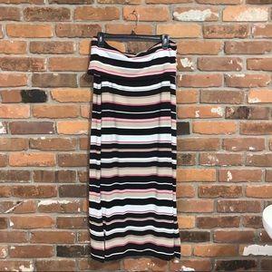 White House Black Market Striped Maxi Dress LP